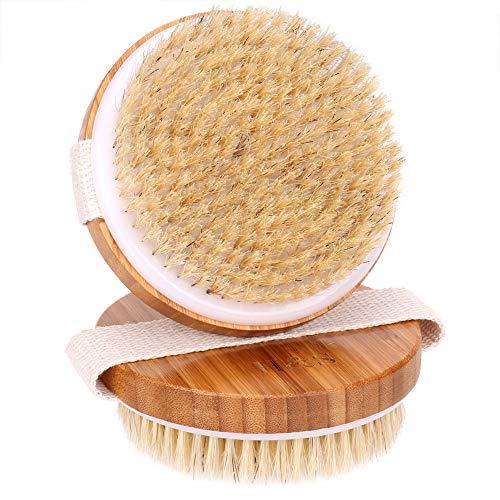 H&S 2 Body Brush Dry Skin Bath Shower Brush Back Scrubber Natural Bristles...