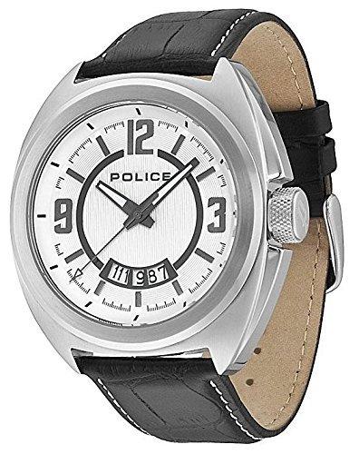 POLICE PL.13404JS/04 - Reloj analógico de Cuarzo para Hombre con Correa de Piel, Color Negro