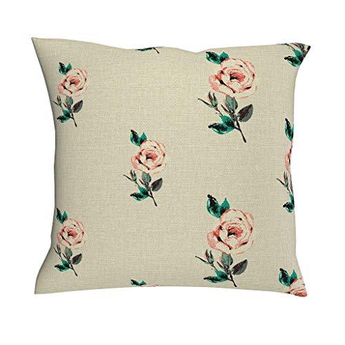 Rcerirt plant bloem roos ademend licht kussensloop met ritssluiting voor slaapkamer prachtige stijl