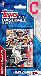 Cleveland Indians 2020 Topps Baseball EXCLUSIVE Special Limited Edition 17 Card Complete Factory Sealed Team Set with Jake...