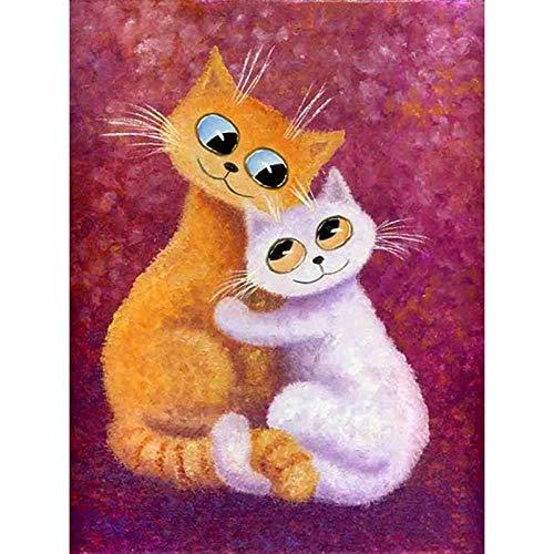 xinxin Reloj de Pared Huella del Gato 3D DIY Reloj de Pared Regalo para Amante de los Gatos Acrílico Pegatinas de Pared Simples para Sala de Estar Espectáculo Creativo Barrido silencioso