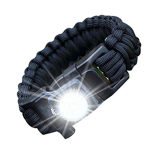 JT Outdoor LED Armband 550 Paraplu Touw Weven Verlichting SOS Apparatuur Outdoor Survival Ontstekingsgereedschap?5 Pack?, willekeurig