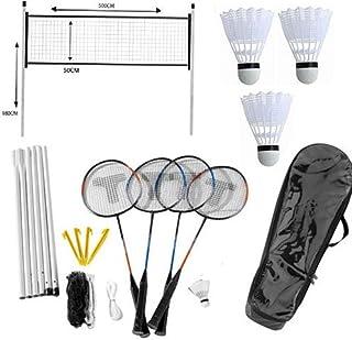 Wilson Set de badminton familial 4 personnes avec filet//poteaux//volants