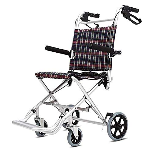 Sale!! NSCHJZ Auxiliary Trolley Wheelchairs Folding Carry Electric Wheelchair,Safe and Drive for Ext...