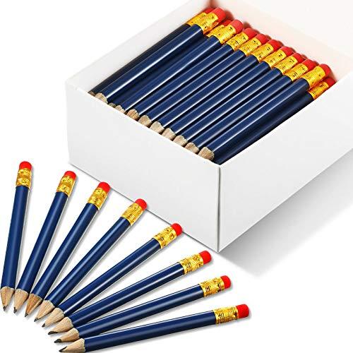 72 Stücke Golf Tasche Bleistifte Halbstifte mit Radiergummi #2B Golf Bleistifte Mini Kurz Bleistifte Taschen Stift für Golf Sitz Klassenzimmer (Marine Blau)