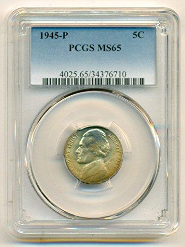1945 P Jefferson Silver Nickel MS65 PCGS