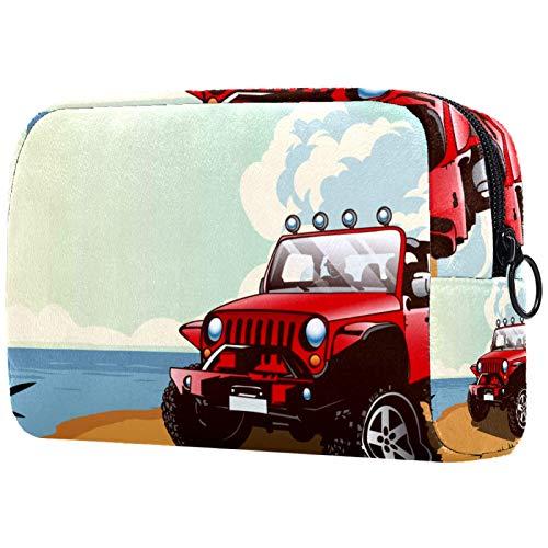 ATOMO Makeup Bag, Fashion Cosmetic Travel Bag Large Toiletry Bag Makeup Organizer for Women, Summer Jeep