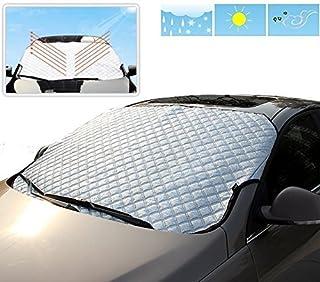 ZKOOO Pare-Brise de Voiture Automatique R/étractable Rabattable Pare-Soleil avec Ventouse Rev/êtement R/ésistant aux UV Universel de Voiture Fen/être Avant