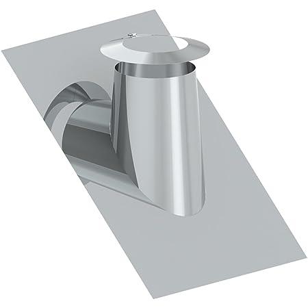 /Ø 150mm, 5-30/° Edelstahl mit Blei Schornstein Dachdurchf/ührung inklusive Wetterkragen in allen Neigungen und Durchmessern