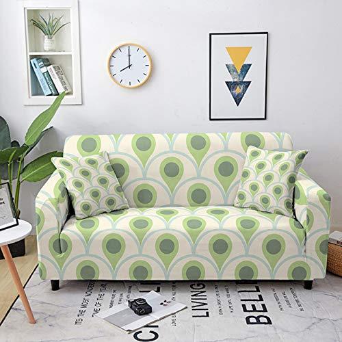 Fundas de sofá elásticas, universales, de estilo simple, elásticas, elásticas, fundas de sofá de poliéster y licra, para sofá de cama individual a cuatro plazas, 1, asiento 90, 140 cm