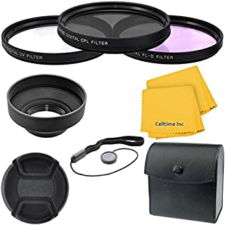 Multi-Coated UV Filter and UV Protective All-Purpose Filter Combo for Panasonic Lumix G Vario 100-300mm F//4.0-5.6 OIS Lenses FLD 67mm All Purpose Fluorescent CT Microfiber Cleaning Cloth