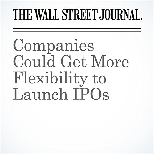 Companies Could Get More Flexibility to Launch IPOs copertina