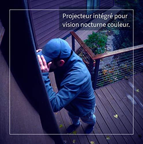 Arlo Ultra 4K HDR | caméra de surveillance Wifi sans fil, étanche IP65.Grand Angle 180° Spot intégré, vision nocturne colorée. Rechargeable.Abonnement gratuit 1 an. Pack de 1 caméra (VMS5140)