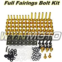 Black WYNMOTO US Stock ZX9R 2002 2003 02 03 Full Motorcycle Fairings Aluminum Fasteners Bolt Kit Body Screws Hardware Clips