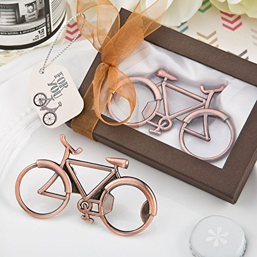 Vintage Bicycle Design Antique Copper Color Metal Bottle Opener (60)