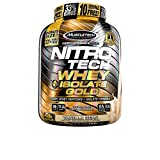 Muscletech Nitro Tech Whey Plus Isolate Gold Suplemento de Proteínas Vanilla - 1810 gr