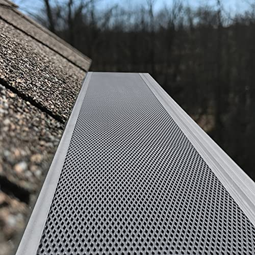 Air Jade Gutter Guard 5'', Super-Fine Coated Stainless Steel Mesh Needle and...