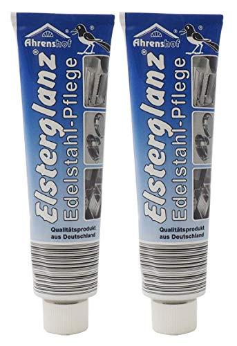 2x 150ml Elsterglanz Original Edelstahl-Pflege, Edelstahl Politur Edelstahlreiniger