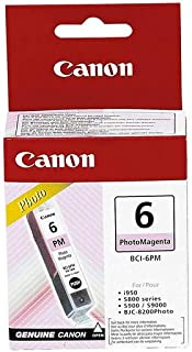 Canon CBCI6PM Photo Ink Cartridge for Bubble Jet and PIXMA Printers, Magenta