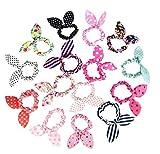 10piezas de bonitas cintas para el cabello con orejas de conejo, cinta de goma, joyas para el cabello, diademas, accesorios para el cabello para mujeres y niñas, color aleatorio