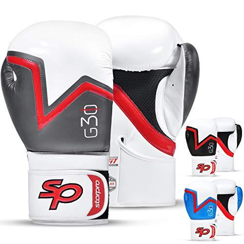 Starpro Boxhandschuhe Training Muay Thai - Boxhandschuh Boxsack Professioneller Kickboxen Sparring Sandsack Punchinghandschuhe Mitts Boxing Gloves | 8oz 10oz 12oz 14oz 16oz| Männer und Frauen|
