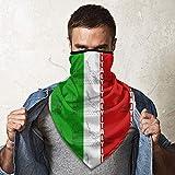 WH-CLA Bufanda para Hombre Mujer,Italia Bandera Italiana Coliseo Romano Pañuelo De Cabeza Respirable Bufanda Facial Multifuncional Sombreros Durable Polainas De Cuello para Pesca Partido Correr