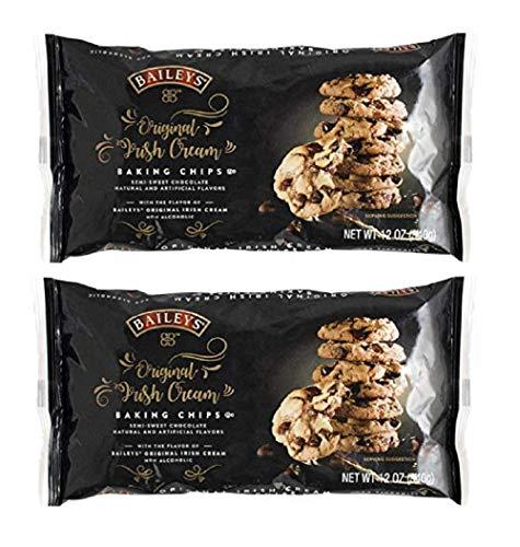 Baileys Original Irish Cream Semi-Sweet Chocolate Baking Chips, 12 Oz - Pack of 2