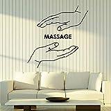 Masaje tatuajes de pared centro de spa mano salón de belleza tiempo de relajación salud fisioterapia decoración de la habitación puertas y ventanas ventanas pegatinas de vinilo arte mural 57 * 58 cm