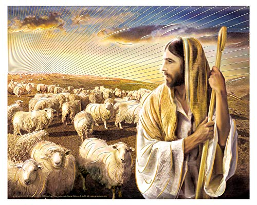 Jesus Christ The Lord Is My Shepherd (16'x20') - Religious Wall Art Print Poster