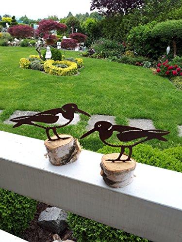 ARTTEC Design Vogel/Austernfischer (2er Pack Rost)