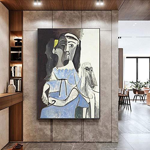 HHLSS Obra de Arte para el hogar 40x60 cm sin Marco Picasso Pintura de Arte Abstracto Pesadilla Antes de Navidad Imágenes de Arte de Pared para la Sala de Estar Decoración del hogar