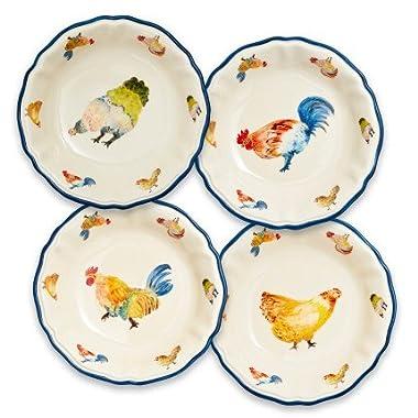 Sur La Table Jacques Pepin Collection Chickens Pasta Bowls, Set of 4