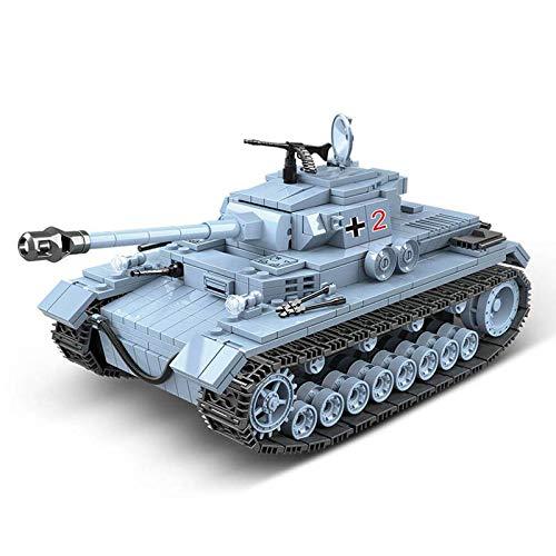 Bloques de construcción militares Panzerkampfwagen Iv Modelo tanque ladrillos con soldado del ejército figuras de acción juguetes Moc Ww2 Historia tema 716pcs