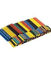 Keepjoy 熱収縮チューブ 328ピースセット 絶縁チューブ 防水 高難燃性 チューブ シュリンクチューブ 5色 8サイズ