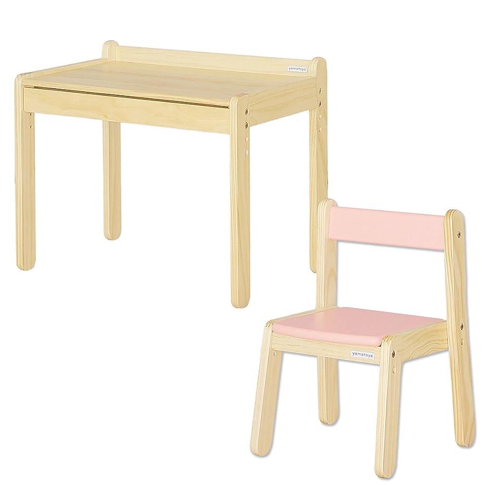 バルク難民パンダ大和屋 ノスタ テーブル&リトルチェア 2点セット ピンク 19200102 PK
