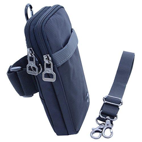 Braçadeira esportiva liangdongshop para corrida, cinto, pacote com 15 cm, suporte para celular, bolsa transversal para celular com alça de ombro removível, Cinza