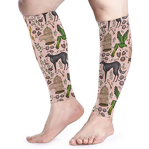 Print Behang Perzik Kalf Compressie Mouw Mannen Womens Running Been Sleeve voor Shin Splint Spier Pijn Relief