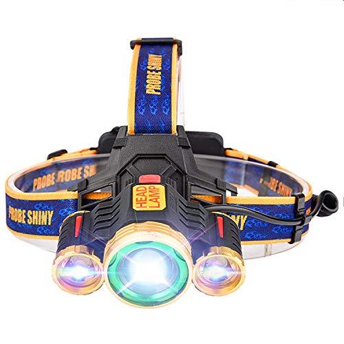 EFGS Linterna Frontal LED, Linterna Frontal, superbrillante, Resistente al Agua, para Correr, Caminar, Camping, Lectura de Pesca, luz de Ciclismo