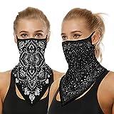 2pcs Dustproof Face Masks Stretchy Neck Protector Neck Gaiters Ear Loops Collar Bandana Scarf Balaclavas