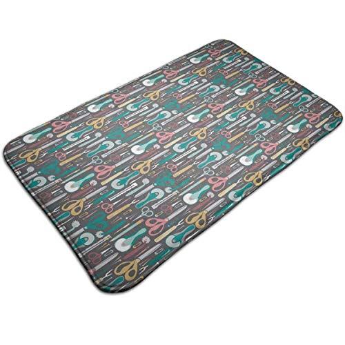 Rutschfeste Fußmatte Bodenmatte Die Nähvorschläge von Quilter Home Decor Stehmatte Eingangsmatte für den Innen- und Außenbereich, maschinenwaschbar/schnell trocknend/Fußmatte gegen Ermüdung, 40X60CM