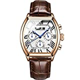 Reloj De Pulsera De Hombre De Moda, Reloj Deportivo De Cronógrafo para Hombre Reloj Clásico Militar De Cuero Genuino para Hombre 25cm como pic