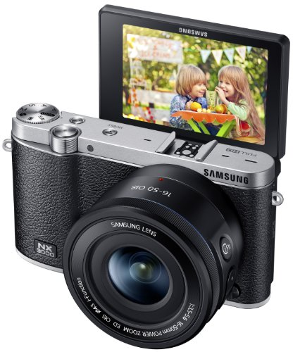 Samsung EV-NX3000BOIUS Wireless Smart 20.3MP Compact System Camera with 3-Inch LCD and 16-50mm OIS...
