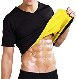 Sauna Camiseta Sudoración Hombre Neopreno Body Shaper Transpirar para Quema Grasa Faja Abdome Adelgaza Gimnasio Fitness