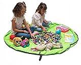 Funky Planet Bolsa de Almacenamiento de Juguetes para Lego, Bolsas de Organizador, Alfombra de Juego para niños de 60 Pulgadas (150 cm) - Organizador portátil de Juguetes para niños (Light Green)