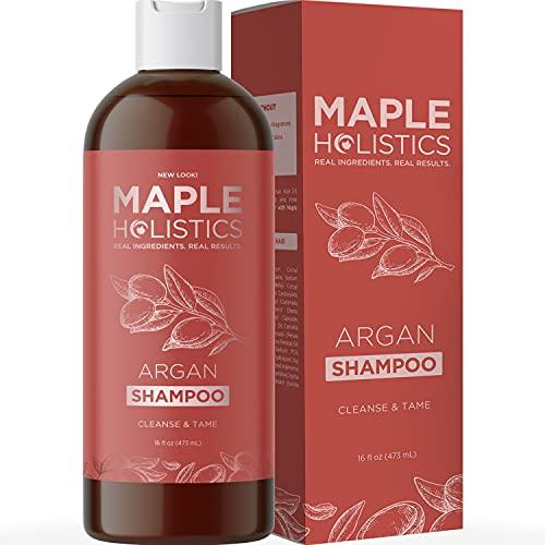 Argan Oil Shampoo for Dry Hair - Sulfate Free Shampoo for Damaged Hair with Pure Argan Oil for Hair - Volumizing Shampoo for Healthy Hair Shine and Premium Hair Moisturizer for Dry Damaged Hair Care