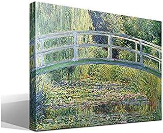 Cuadro Canvas El Puente Japones - Nenúfares de Monet - 95 x 70