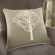 Fusion - Woodland Trees - 100% Cotton Cushion Cover - 43x43 cm in Linen