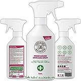 Spray pour plaies pour les chiens qui piquent et démangent | Sprays de premiers soins violets | La peau d'animal de chien coupe le traitement de blessures (500ML)
