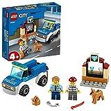 LEGO City Unità Cinofila della Polizia, Macchina Giocattolo con Figura del Cane, Giochi per Bambini di 4+ Anni, 60241