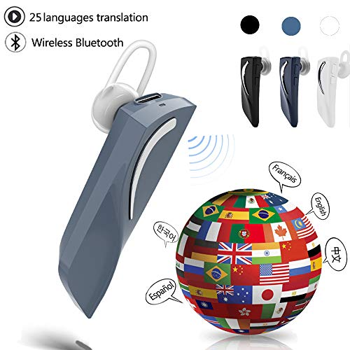 Bluetooth Smart Voice Translator 28 Languages Instant Translate Headphone Wireless Bluetooth Translator Earphone Business Voice Translator (Gun Color)